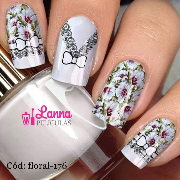 Películas decorados para unhas - Floral