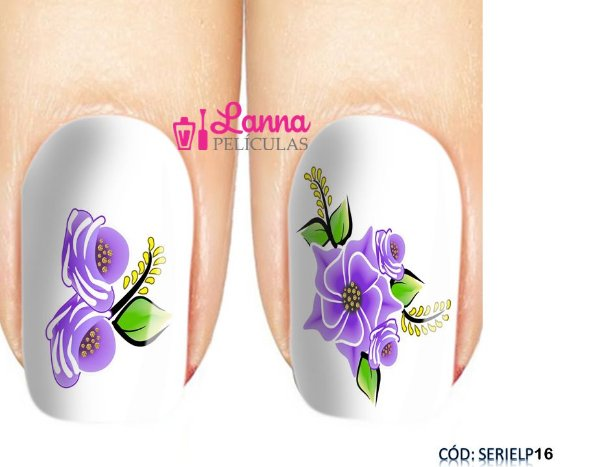 Películas de unha (SerieLP) - Floral Lilas
