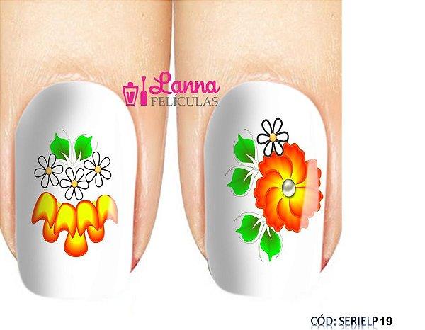 Películas de unha (SerieLP) -Floral Laranja