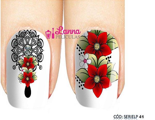 Películas de unha (SerieLP) - Mandala/ Flor Vermelha