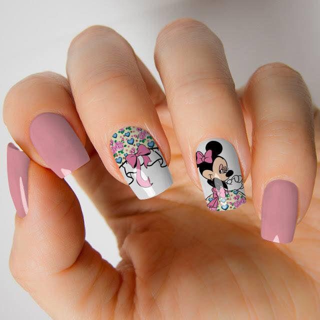 Películas de unha- Minnie Floral