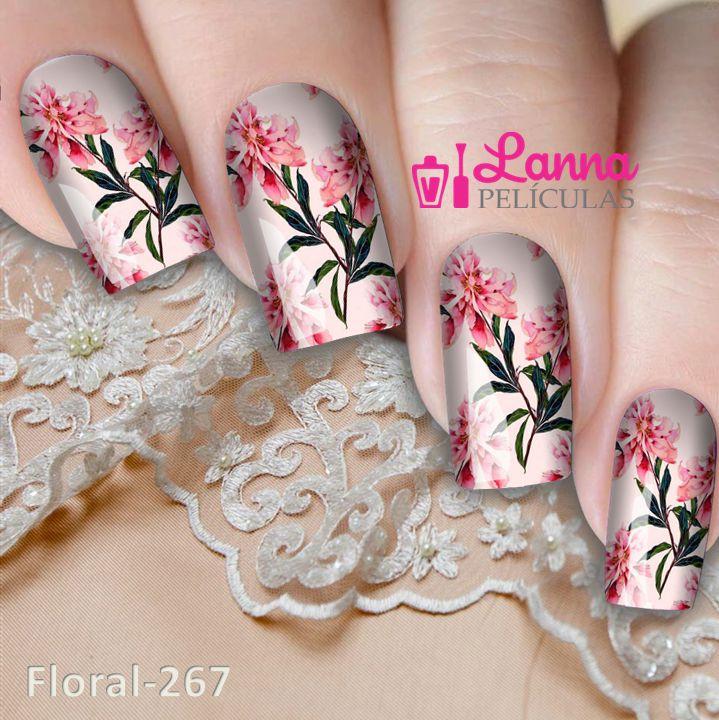 DUPLICADO - Películas decorados para unhas - Floral