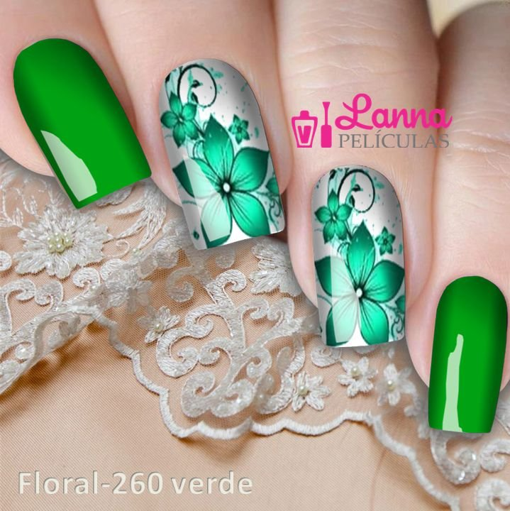 Películas ou Adesivos decorados para unhas  Floral