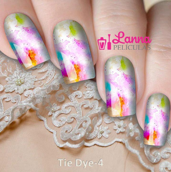 Películas de unha- Modelo Tie Dye