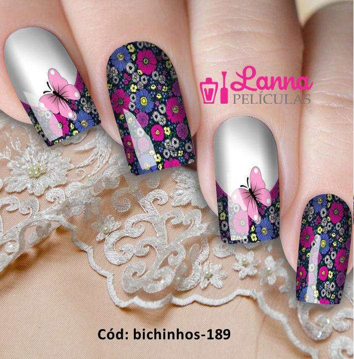 Películas de unha- Modelo Borboleta Floral