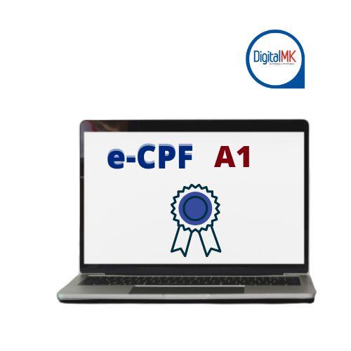 CERTIFICADO DIGITAL E-CPF A1