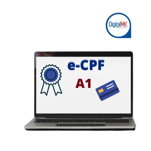 CERTIFICADO E-CPF A1 (COM A MIDIA DO CLIENTE)
