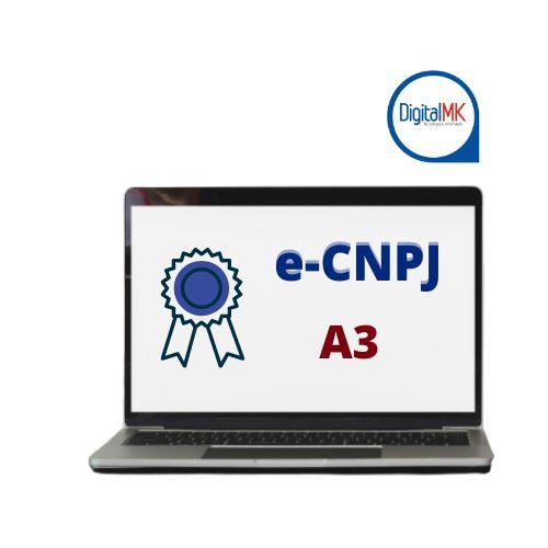 e-CNPJ A3 COM CARTÃO SMARTCARD + LEITORA