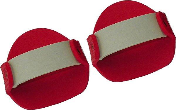 Luvas Musculação em E.V.A Vermelha/Cinza Masculino ( Par )