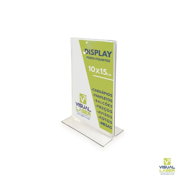 Kit 10 Displays 10x15 A6 T Invertido Porta Folder Folheto