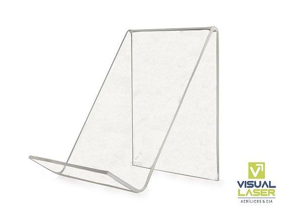 Porta Livro 15x15cm Display Expositor Suporte Acrílico Kit 4