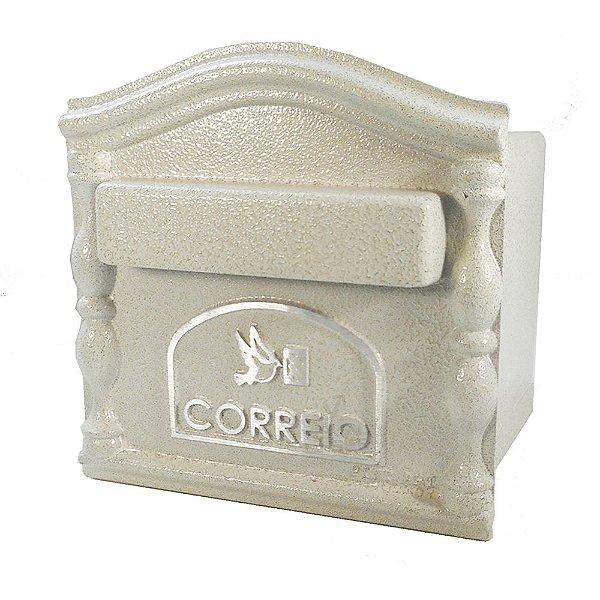 Caixa De Correio Branca Embutir Muro 19x19cm Alumínio Decora
