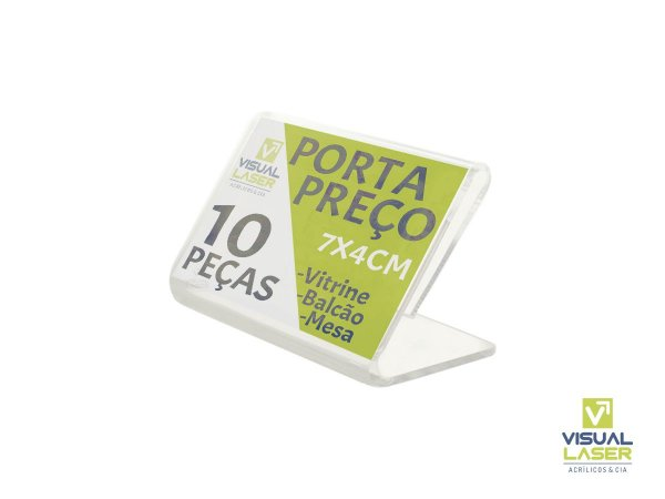 Display Porta Preço 7x4cm Kit 10 Un em PS