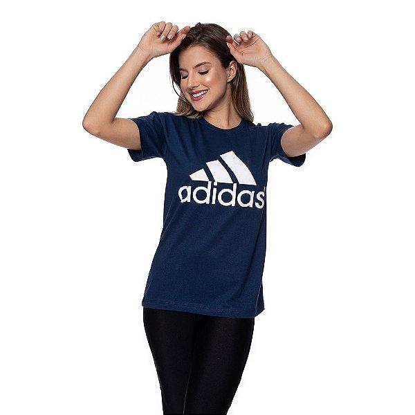 Camiseta Feminina Adidas Original Azul marinho