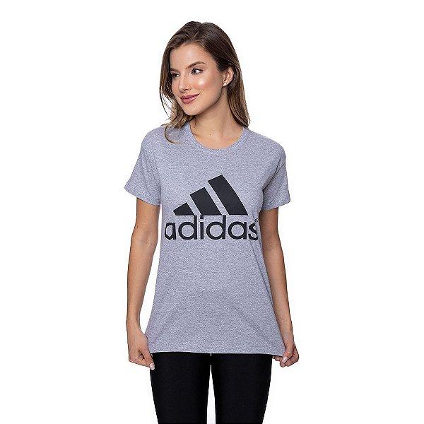 Camiseta Feminina Adidas Original Cinza