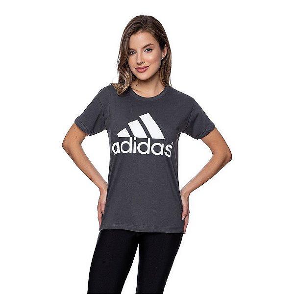 Camiseta Feminina Adidas Original Grafite