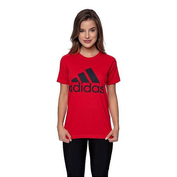 Camiseta Feminina Adidas Original Vermelha