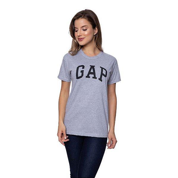 Camiseta Feminina GAP Original Cinza