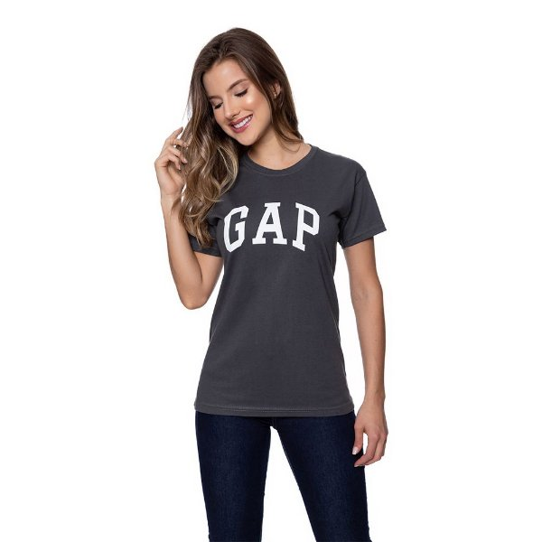 Camiseta Feminina GAP Original Grafite