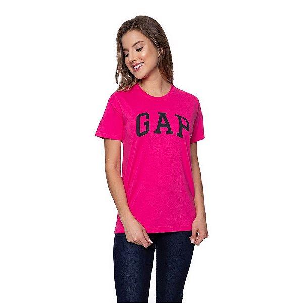 Camiseta Feminina GAP Original Rosa Choque