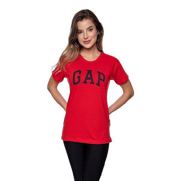 Camiseta Feminina GAP Original Vermelha