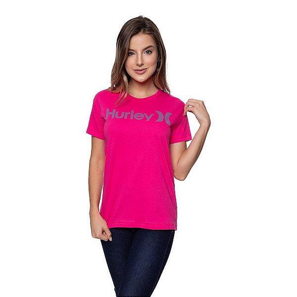 Camiseta Feminina Hurley Original Rosa Choque