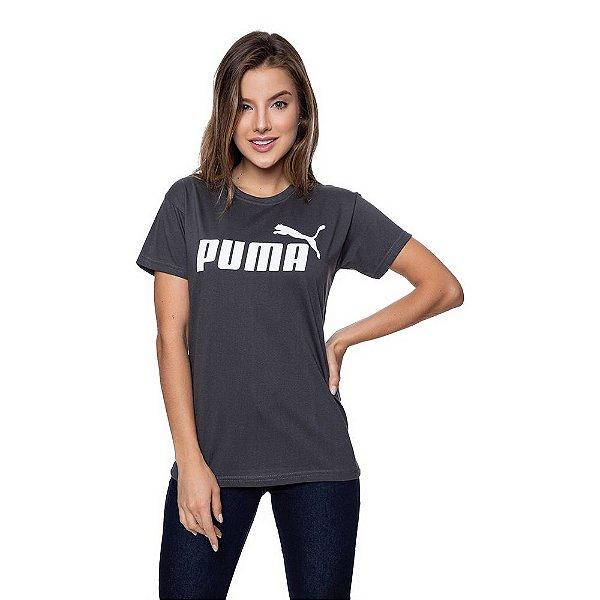Camiseta Feminina Puma Original Grafite