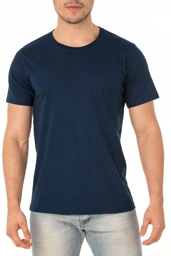 Camiseta Masculina Lisa Azul Marinho