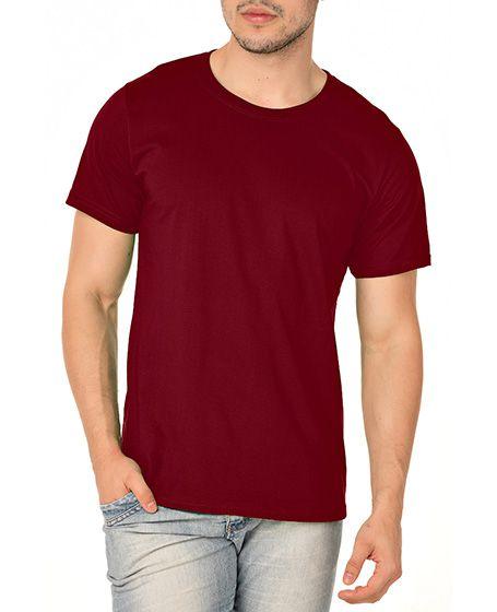Camiseta Masculina Lisa Bordô