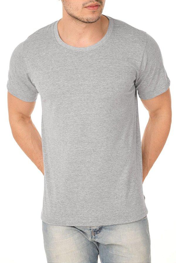 Camiseta Masculina Lisa Cinza