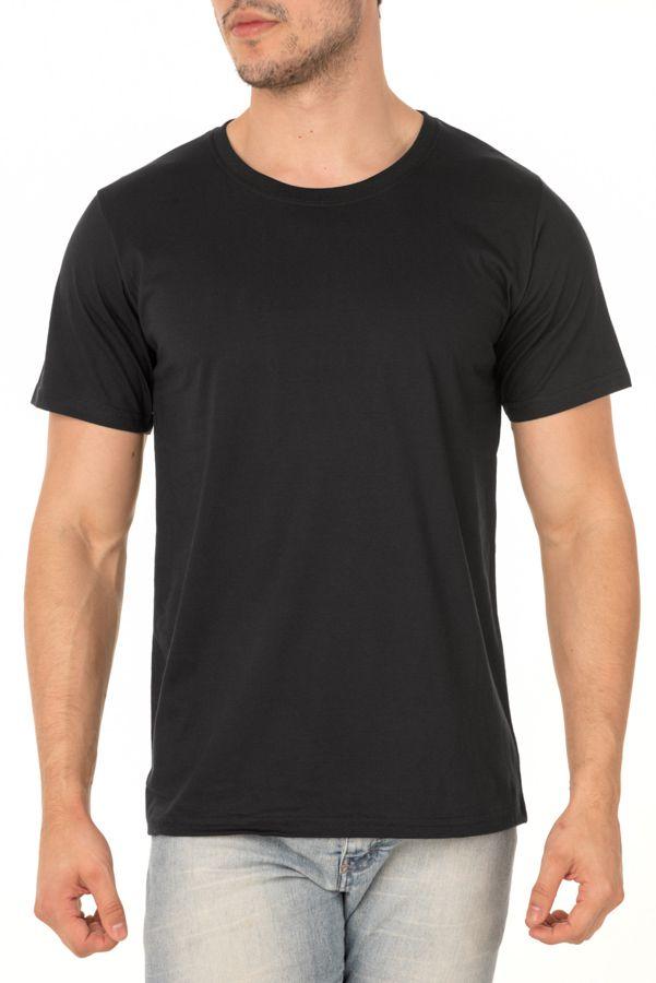 Camiseta Masculina Lisa Preta