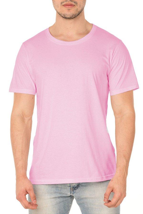 Camiseta Masculina Lisa Rosa