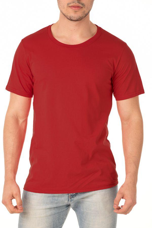 Camiseta Masculina Lisa Vermelha
