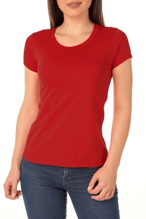 Camiseta Feminina Lisa Vermelha