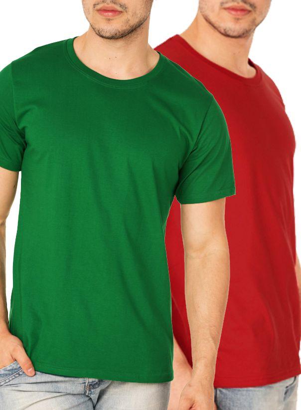 Kit com 30 Camisetas Lisas Masculina