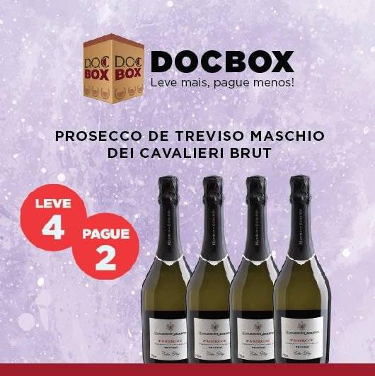 DOC BOX PROSECCO DE TREVISO MASCHIO DEI CAVALIERI BRUT
