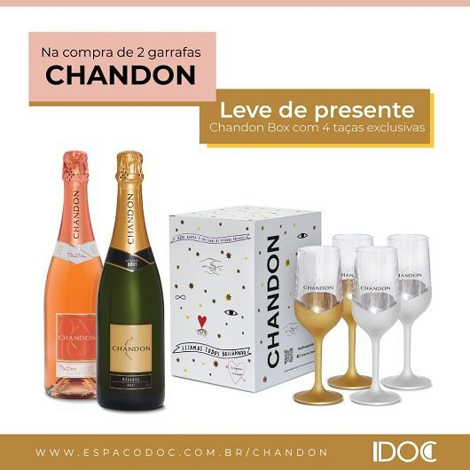 Kit 01gf Chandon Brut e 01gf Chandon Passion