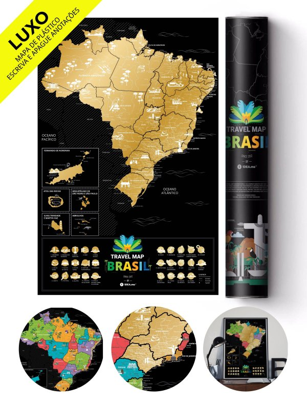 Mapa de Raspadinha do Brasil Gold Deluxe