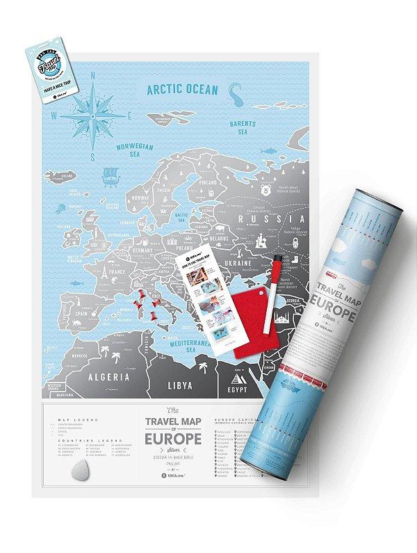 Mapa de Raspadinha da Europa