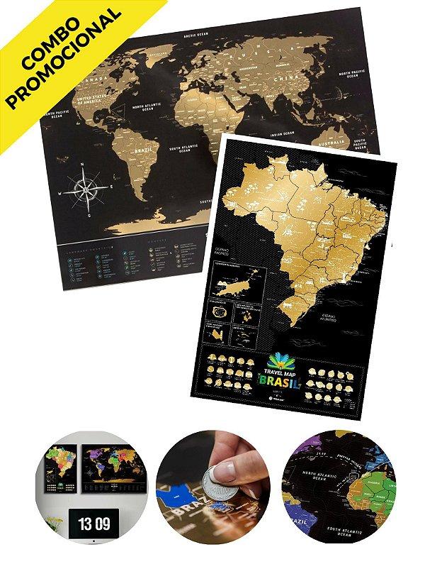 Combo - Mapa de Raspadinha Gold e Mapa de Raspadinha do Brasil