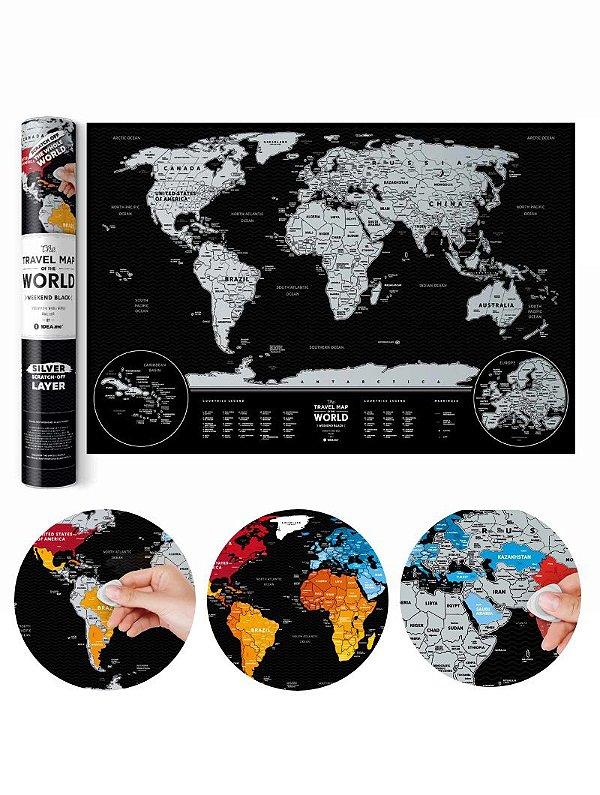 Mapa de Raspadinha Black & Silver 60x40