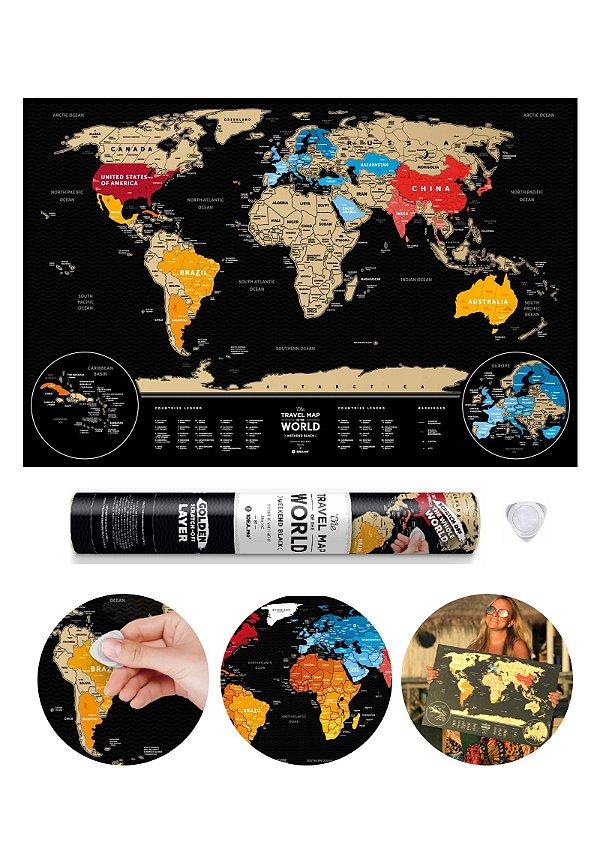 Mapa de Raspadinha Black & Gold 60x40