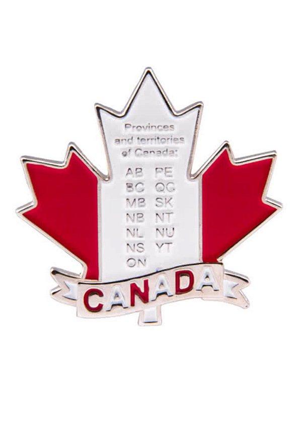 Imã Canadá - Folha do Canadá com Estados
