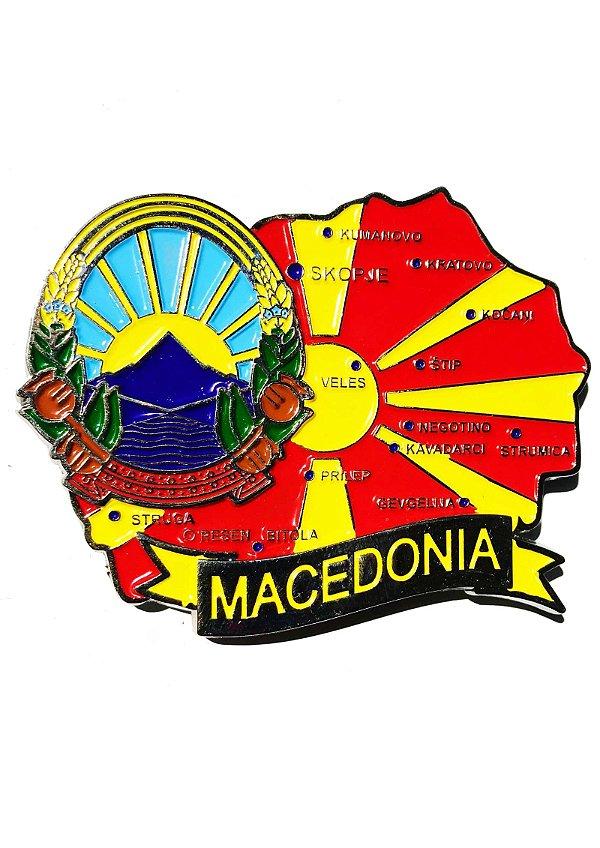 Imã Macedônia - Mapa Macedônia com Bandeira, Cidades e Símbolos