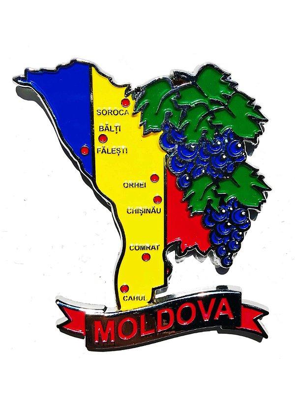 Imã Moldávia - Mapa Moldávia com Bandeira, Cidades e Símbolos