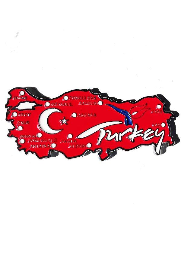Imã Turquia - Mapa Turquia com Bandeira, Cidades e Símbolos