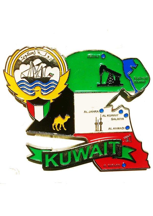 Imã Kuwait - Mapa Kuwait com Bandeira, Cidades e Símbolos