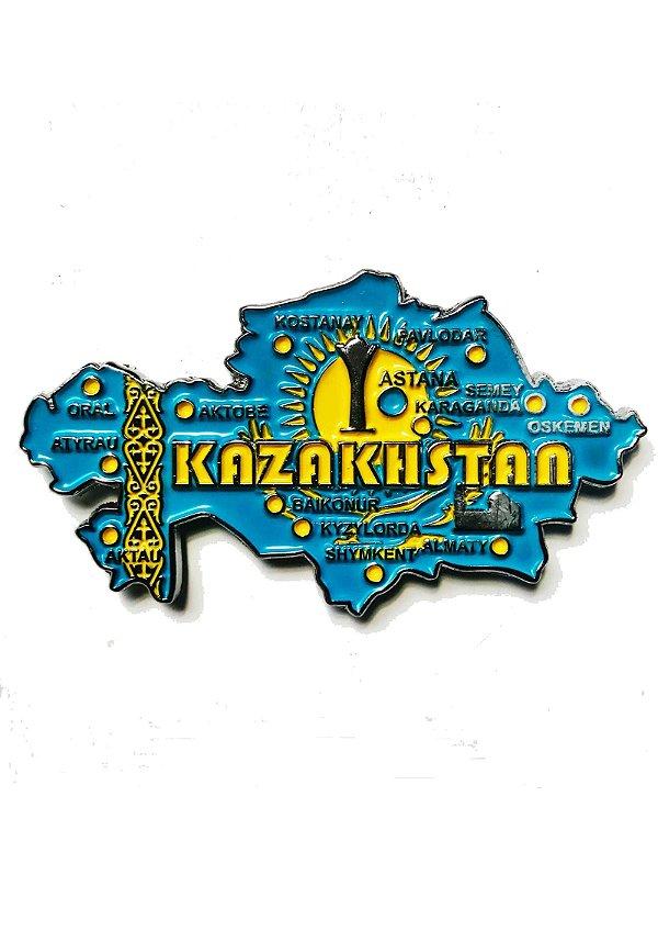 Imã Cazaquistão - Mapa Cazaquistão com Bandeira, Cidades e Símbolos