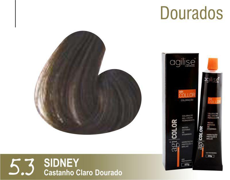 COLORAÇÃO 5.3 |CASTANHO CLARO DOURADO | SIDNEY - 60GR