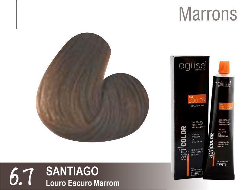 COLORAÇÃO 6.7 | LOURO ESCURO MARROM  |  SANTIAGO - 60GR